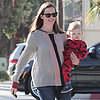 Jennifer Garner With Samuel in His Pajamas