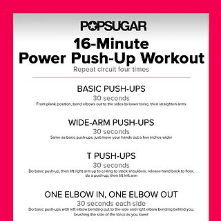 Push-Up Circuit Workout Poster