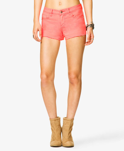 FOREVER 21 Spiked Denim Shorts