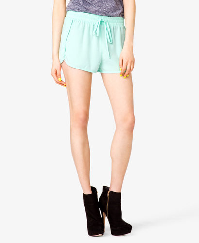 FOREVER 21 Drawstring Woven Shorts