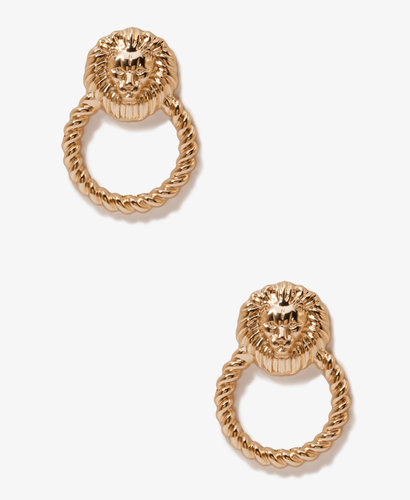 FOREVER 21 Lion Door Knocker Earrings
