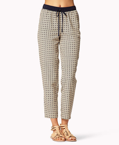 FOREVER 21 Ornate Drawstring Trousers