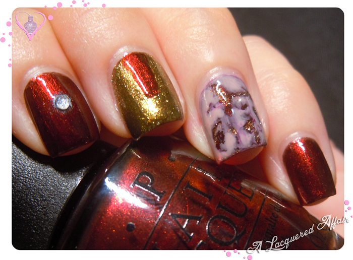 Iron Man 3 nail art for #SGSwatchFestFringe