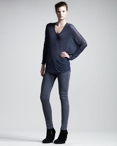 HELMUT Helmut Lang Voltage Dolman Top, Dusty Sapphire