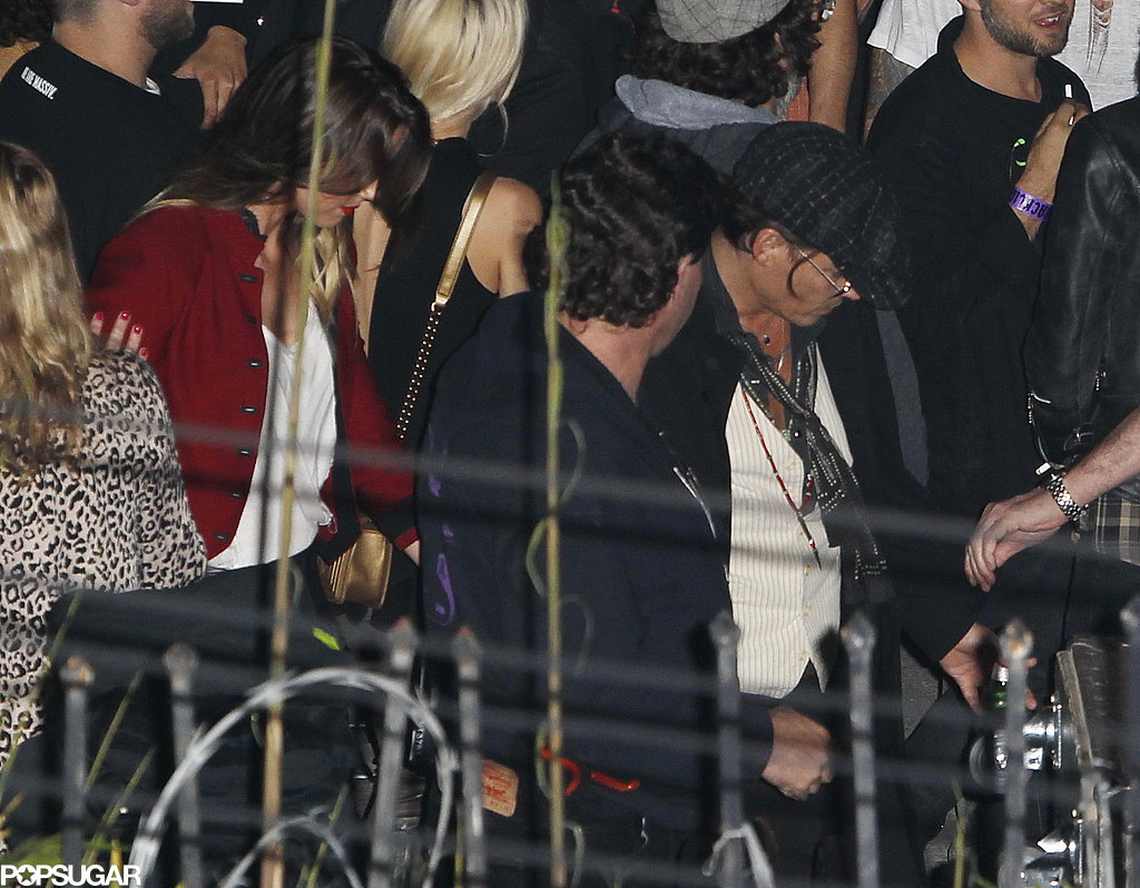 Johnny Depp and Amber Heard saw the Rolling Stones show at LA's Echoplex.