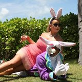 Mariah Carey and Nick Cannon dressed up as Easter bunnies in March 2013.  Source: Instagram user mariahcarey