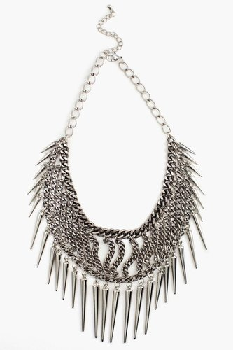 Chained Spike Collar Necklace