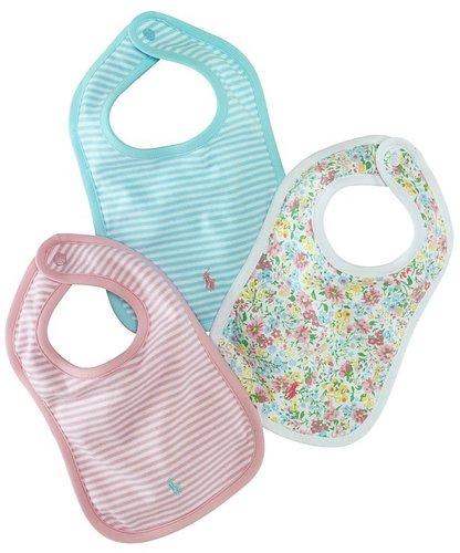 Ralph Lauren Childrenswear Infant Girls' Bibs - Set of 3