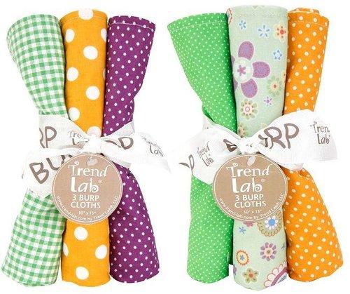 Trend lab jelly bean 6-pk. burp cloth set