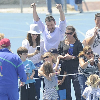 Ben Affleck and Jennifer Garner at Kids' Track Meet Photos
