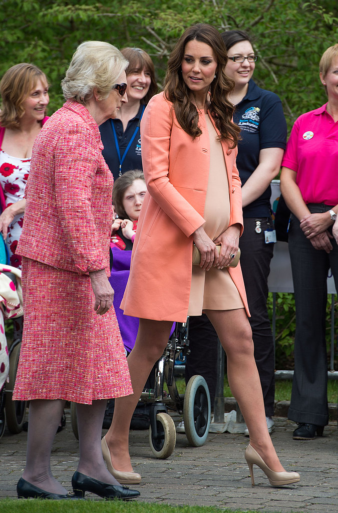 Kate Middleton wore nude LK Bennett pumps.