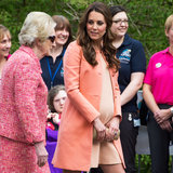 Kate Middleton Shows Off Her Baby Bump in Peach Tara Jarmon