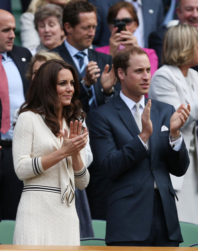 For their appearance at Wimbledon 2012, Kate wore a navy-and-cream sailor-inspired dress by Alexander McQueen.
