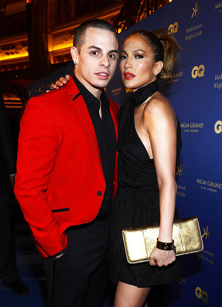 Jennifer Lopez and Casper Smart arrived at Hakkasan's grand opening in Las Vegas.