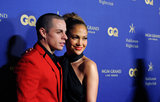 Jennifer Lopez and Casper Smart got close on the red carpet at Hakkasan's nightclub opening.