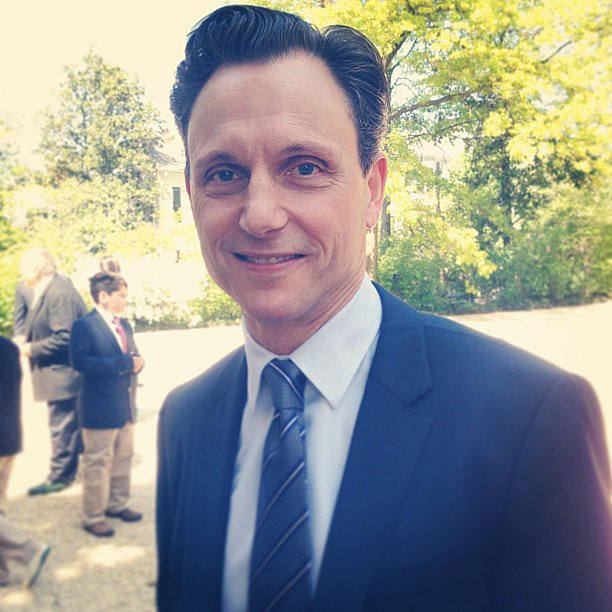 Tony Goldwyn, who plays the president on Scandal, enjoyed himself at the White House Correspondents' Brunch on Saturday morning.