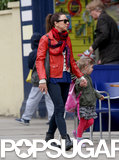 Former Spice Girl Mel C took her daughter, Scarlet Chisholm, for a shopping trip in London.