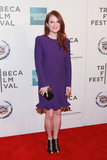 Julianne Moore's purple Alexander McQueen dress with a flirty ruffle hemline and Irene Neuwirth jewels were undeniably chic at the Tribeca Film Festival festivities and would look just as dazzling for your bridal celebrations.