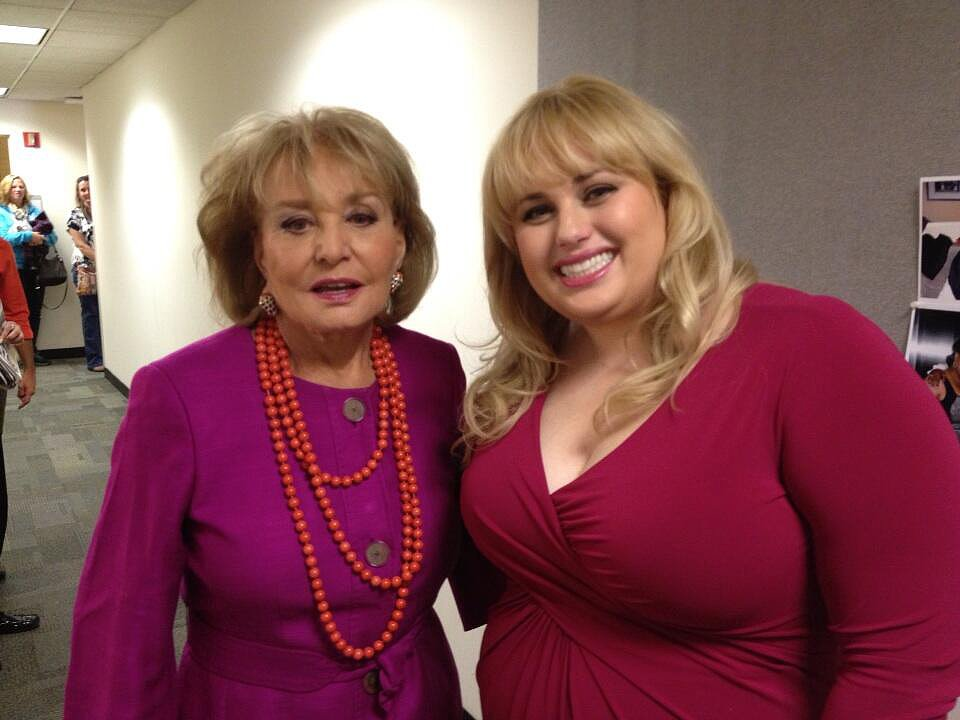 Rebel Wilson bragged that she got to meet the legendary Barbara Walters. Source: Twitter user RebelWilson