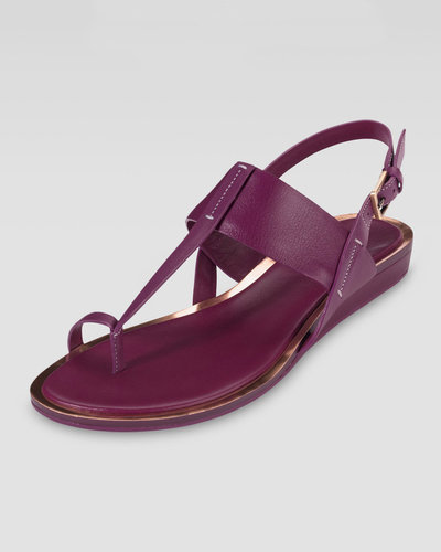 Cole Haan Pelham Flat Leather Sandal, Winery