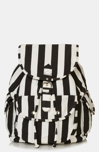 Topshop Stripe Backpack