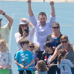 Ben Affleck, Jennifer Garner and Daughters at Track Meet