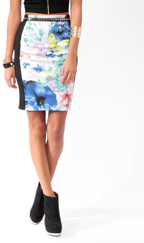 FOREVER 21 Spring Panel Bodycon Skirt
