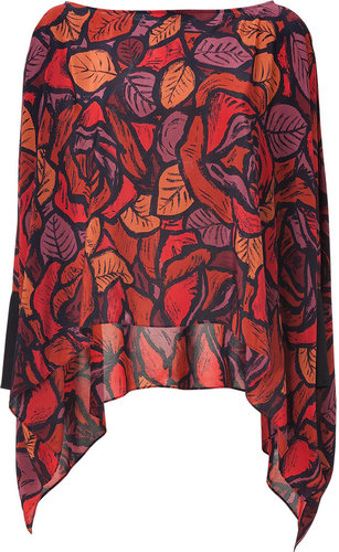 Rachel Zoe Scarlet Red Multi Sabrina Silk Top