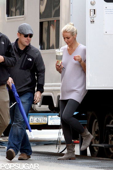 Cameron Diaz left her trailer while on the set of The Other Woman.