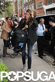Gisele Bündchen and Vivian arrived in London on Tuesday.