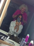 Victoria Beckham worked with hairstylist Tina Outen.  Source: Twitter user VictoriaBeckham