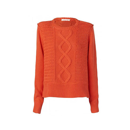 It's tempting to always opt for more neutral shades when it comes to knits but I love a pop of colour in the cooler months to brighten the wardrobe and put a smile on your dial. — Laura, shopstyle.com.au country manager Knit, $290, sass & bide