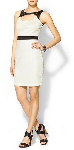 Tinley Road Vegan Leather Cutout Dress