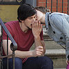 Lena Dunham Kissing Adam Driver on Girls Season 3 Set