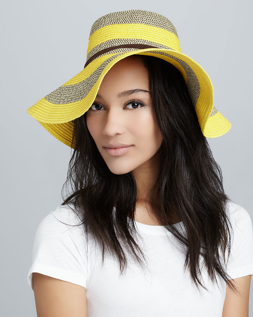Summer is near, and I can already picture myself relaxing on the beach wearing this fun Michael Stars Deep Shade Hat ($58). Its bold stripes are colorful and stylish, but most importantly, it'll keep this pale redhead from catching too many of the sun's rays. — Jen Michalski