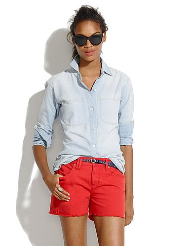 Give your regular denim cutoffs a break, and get into these more punchy Madewell red denim cutoffs ($28, originally $59). We love the styling here but can also envision them coming to life with a pop of leopard.