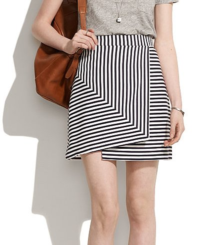 Stripes are nothing new, but the asymmetrical cut on this Whit bamboo striped skirt ($168, originally $298) makes it totally unique and worth every penny.