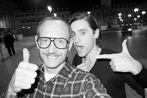 Jared Leto hung out with Terry Richardson in Paris. Source: Twitter user JaredLeto