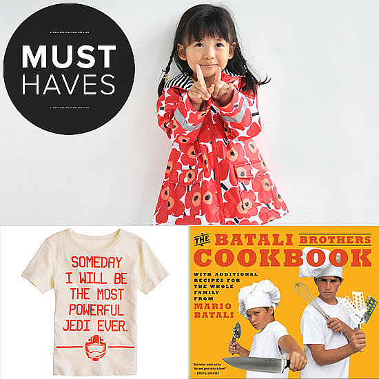 Before the rain ceases for the season, POPSUGAR Moms wants your little girl to prance around in Marimekko's poppy printed raincoat before heading indoors to watch Elmo's latest musical DVD, out May 7. Click to see what else the team has in store for the month.