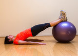Straight-Leg Bridge With Stability Ball