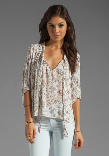 Lucca Couture Oversized Floral Top