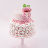 Fabric Fondant Billow Weave Cake