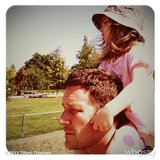 Harper Smith enjoyed a ride on dad Brady Smith's shoulders on a sunny day. Source: Instagram user tathiessen