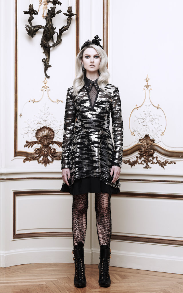 Rodarte Sequin Illusion Tulle Dress With Studded Collar ($5,250)