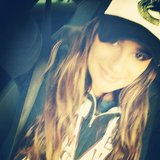 Lea Michele repped the Canucks hockey team with a stylish cap. Source: Instagram user msleamichele