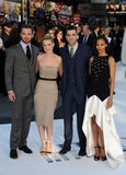Chris Pine, Alice Eve, Zachary Quinto, and Zoe Saldana attended the Star Trek Into Darkness premiere in London.