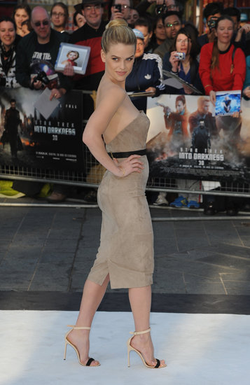 Alice Eve strutted her stuff on the white carpet in London on Monday.