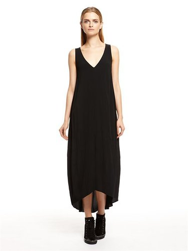 pureDKNY Ghost Crepe Maxi