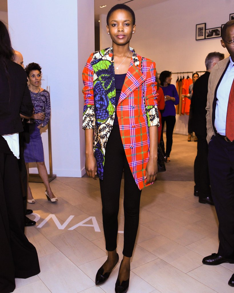 Flaviana Matata at Saks Fifth Avenue's celebration of Costume National in New York. Source: Chris Ford/BFAnyc.com