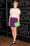 Mia Moretti wore Miu Miu at the Catherine Martin and Miuccia Prada Dress Gatsby opening cocktail party in New York. Source: Billy Farrell/BFAnyc.com